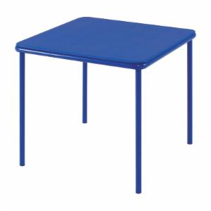 Cosco 24 x 24 Vinyl Top Juvenile Table with Screw in Legs - Blue