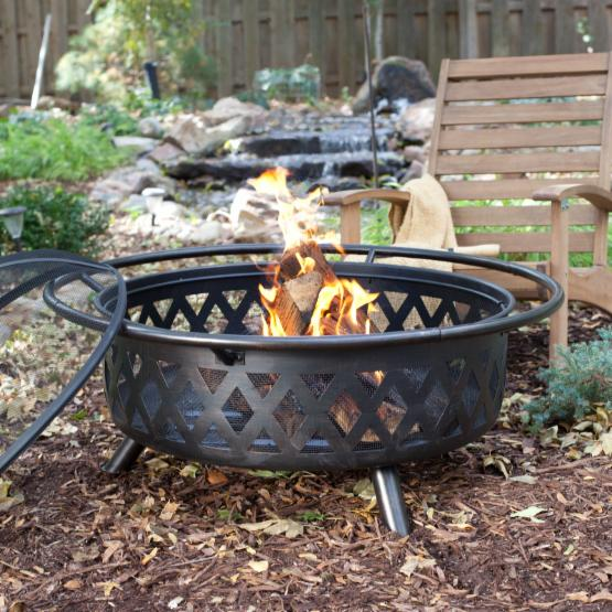 Red Ember Durango Extra Large 34 in. Bronze Fire Pit with FREE Cover