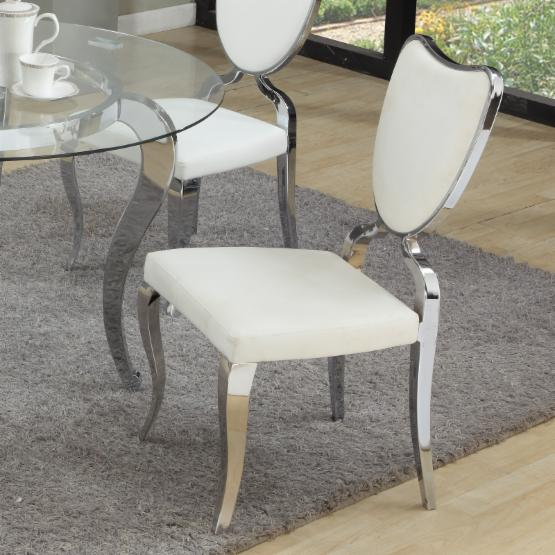 Chintaly Lacey Heart Back Dining Chair - Set of 2