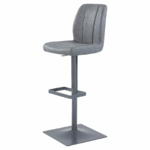 Chintaly Stitched Back Pneumatic Adjustable Bar Stool
