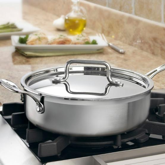 Cuisinart Multiclad Pro Triple Ply Stainless Steel 3.5 qt. Saute Pan with Lid