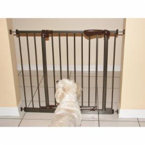 Crown Pet 30 in. Tall Auto-Close Pressure Mounted Pet Gate with Extensions