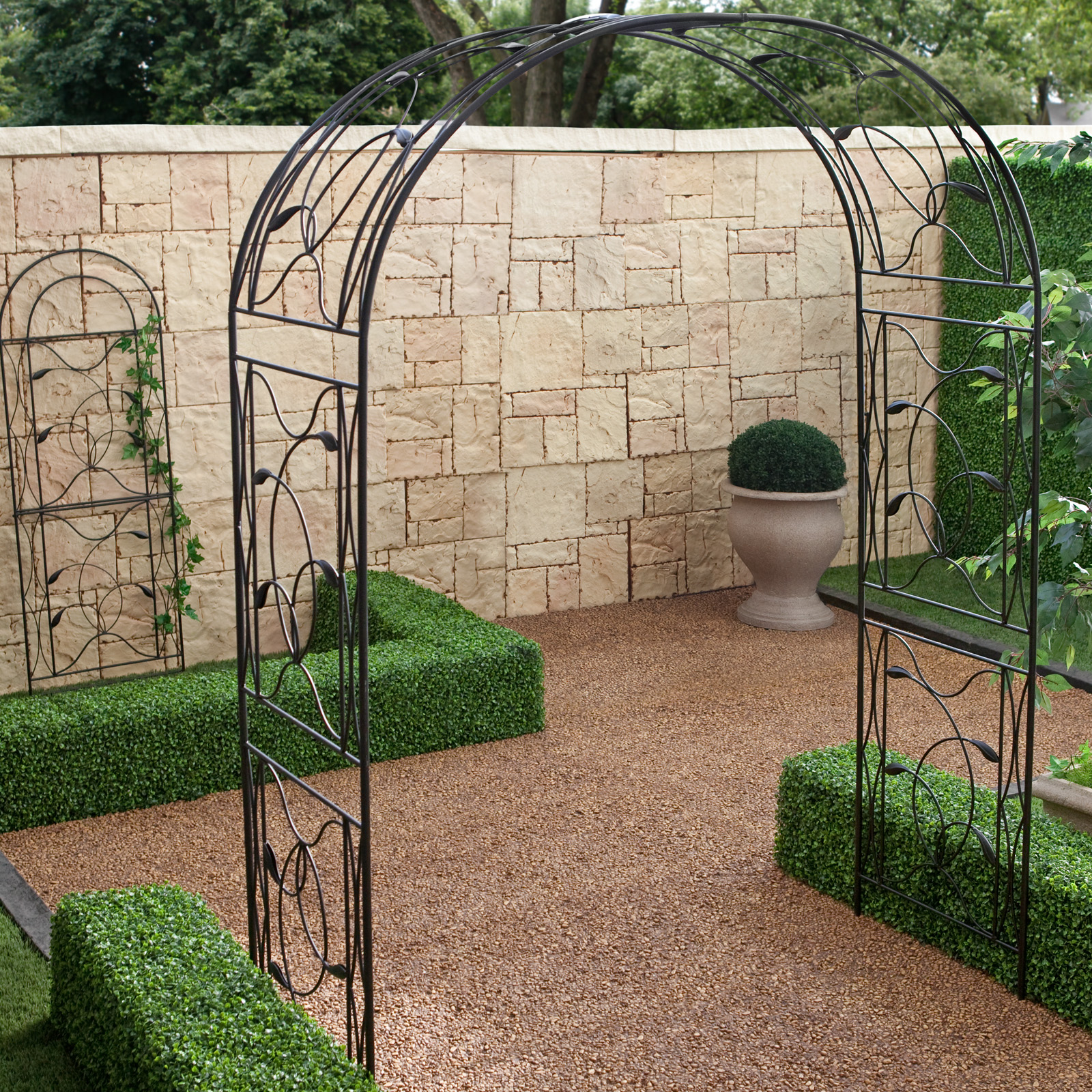 QUICK VIEW. Coral Coast Willow Creek Metal Arbor ...