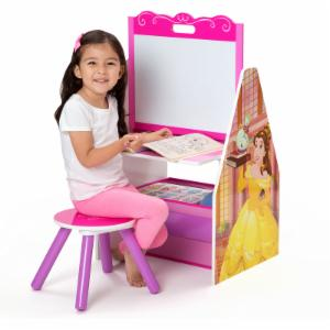 Disney Princess Activity Center Easel Desk with Stool & Toy Organizer