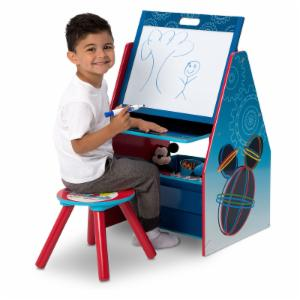 Disney Mickey Mouse Activity Center Easel Desk with Stool & Toy Organizer