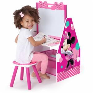 Disney Minnie Mouse Activity Center Easel Desk with Stool & Toy Organizer
