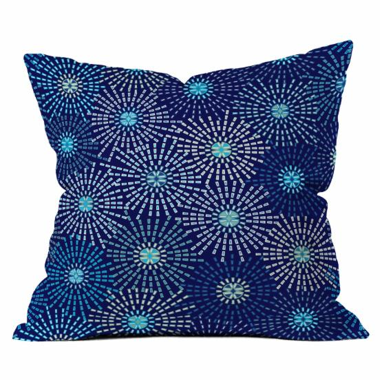 Deny Designs Ruby Door Radiant Stars Throw Pillow