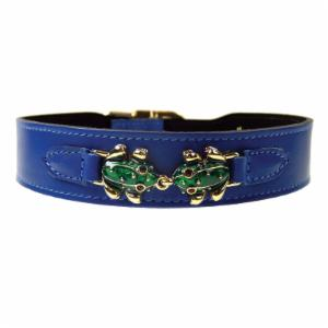 Hartman & Rose Leap Frog Leather Dog Collar