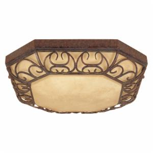 Designers Fountain ES97522 Amherst Fluorescent Flushmount in Burnt Umber Finish