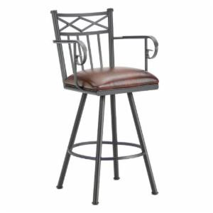 Barrington Home Alexander Extra Tall Swivel Stool with Arms