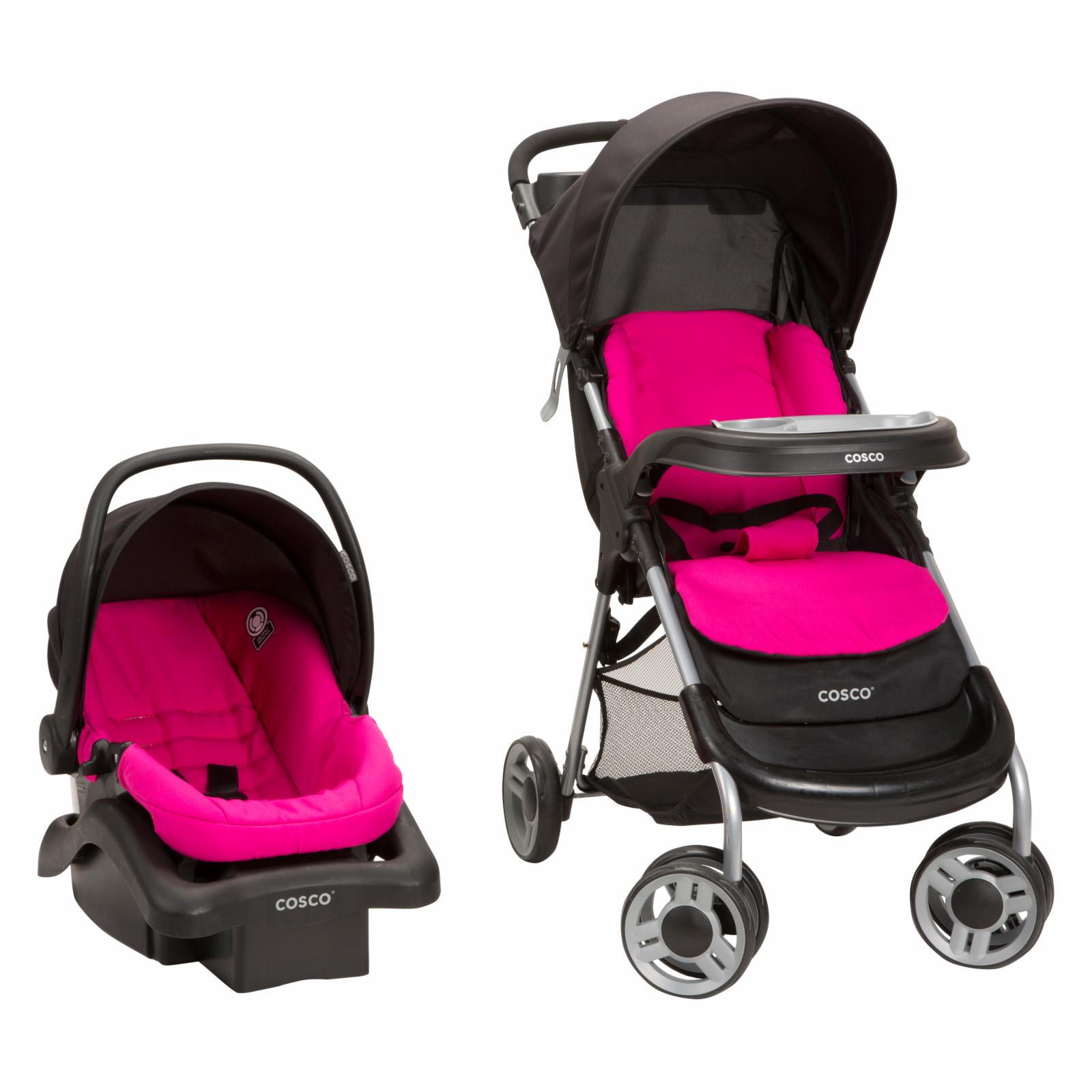 Cosco Lift & Stroll Plus Travel System - Very Berry - TR3...