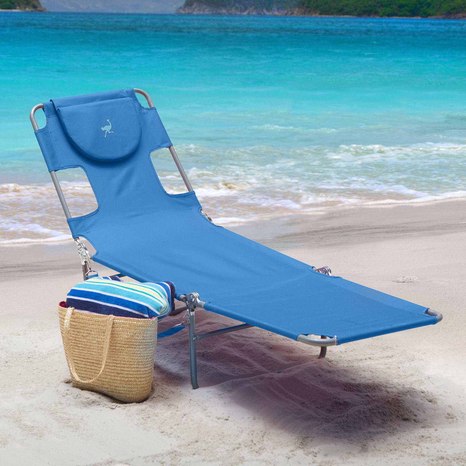 beach lounge chairs ostrich folding chaise lounge outdoor chaise lounges at 28677