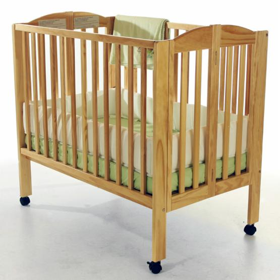 Dream On Me 2 in 1 Folding Portable Crib - Natural
