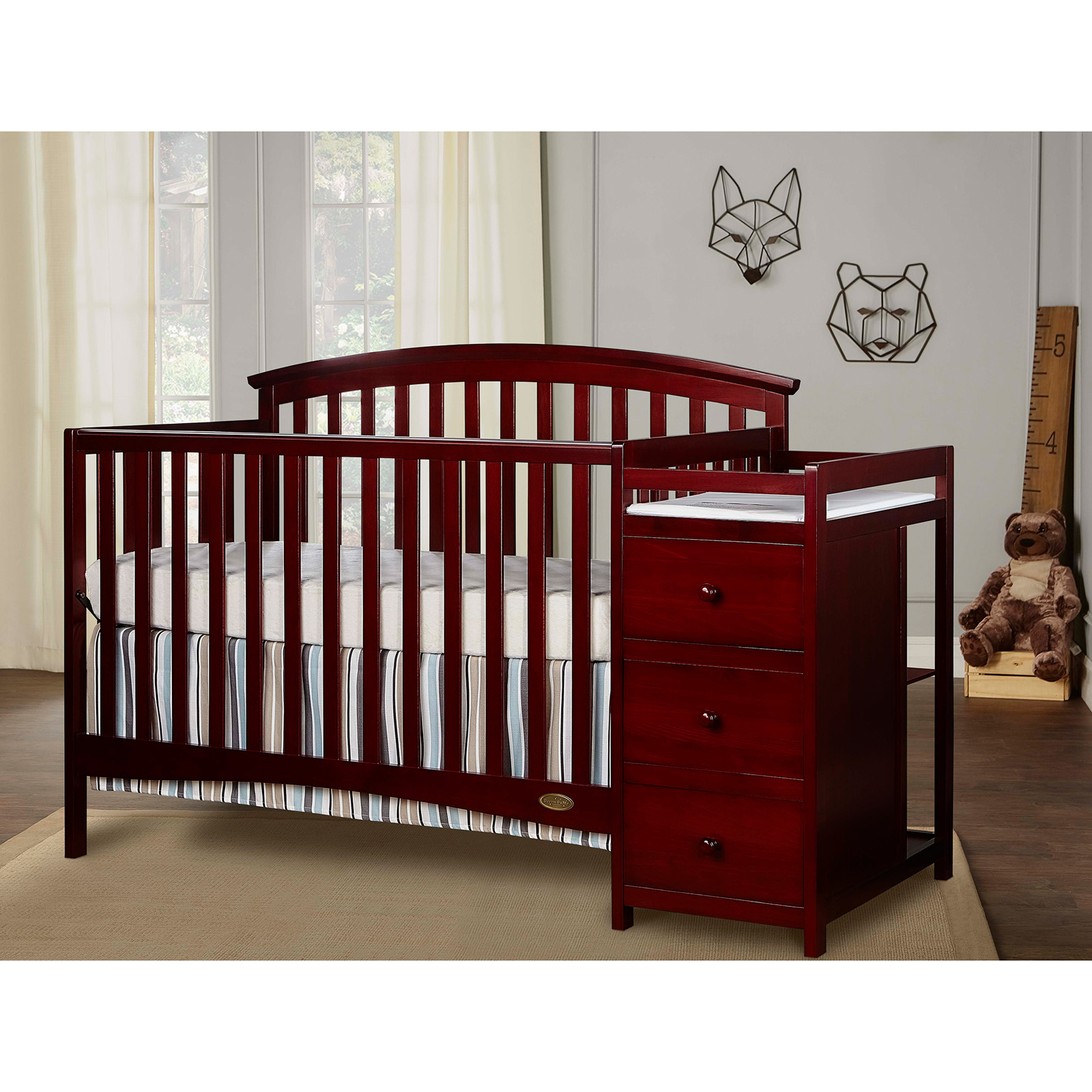 Sorelle Tuscany 4in1 Convertible Crib and Changer Combo Hayneedle