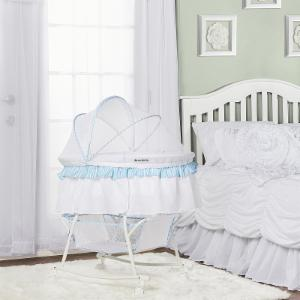 Dream on Me Lacy Portable 2 in 1 Striped Bassinet and Cradle