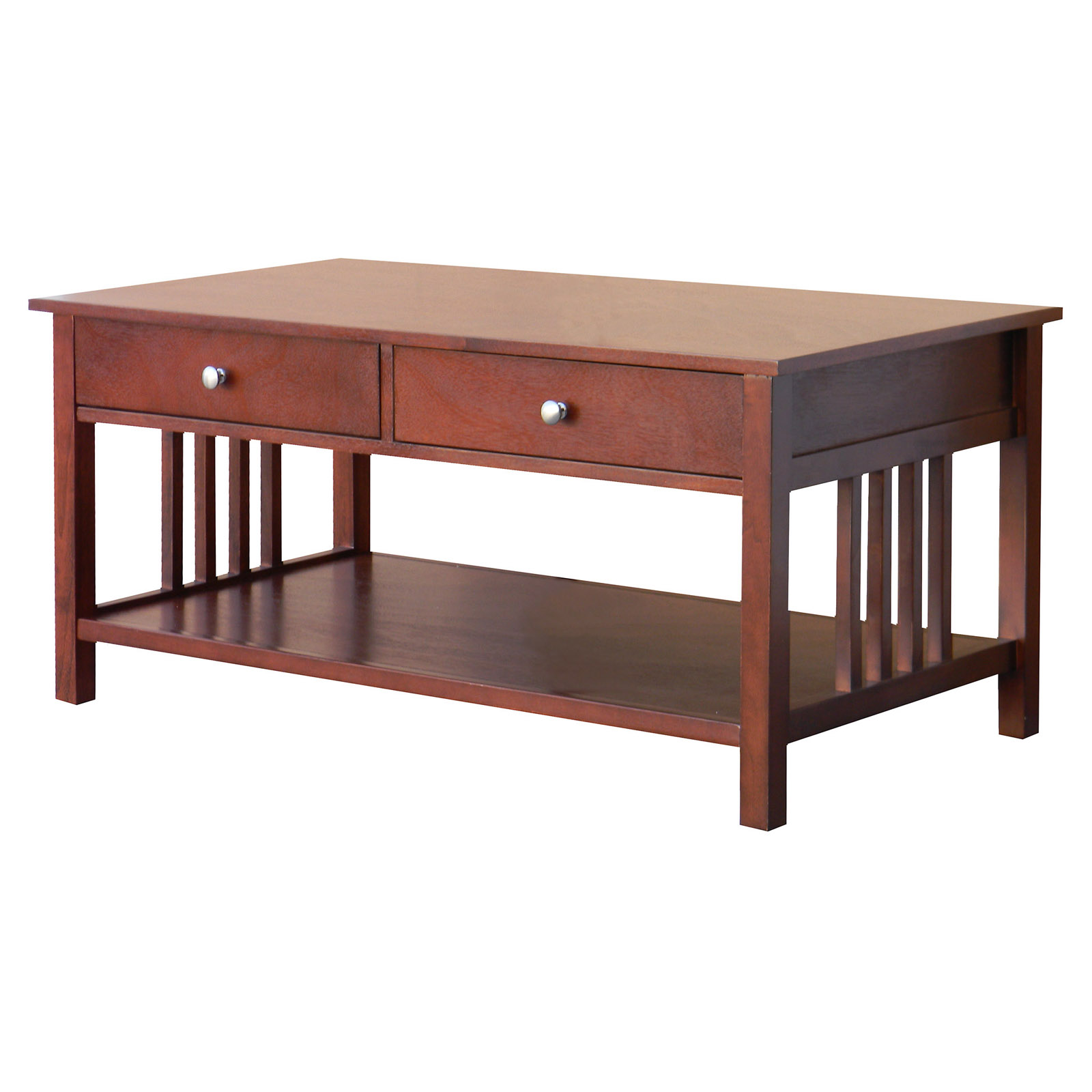 Leick Solid Ash Two Drawer Mission Coffee Table