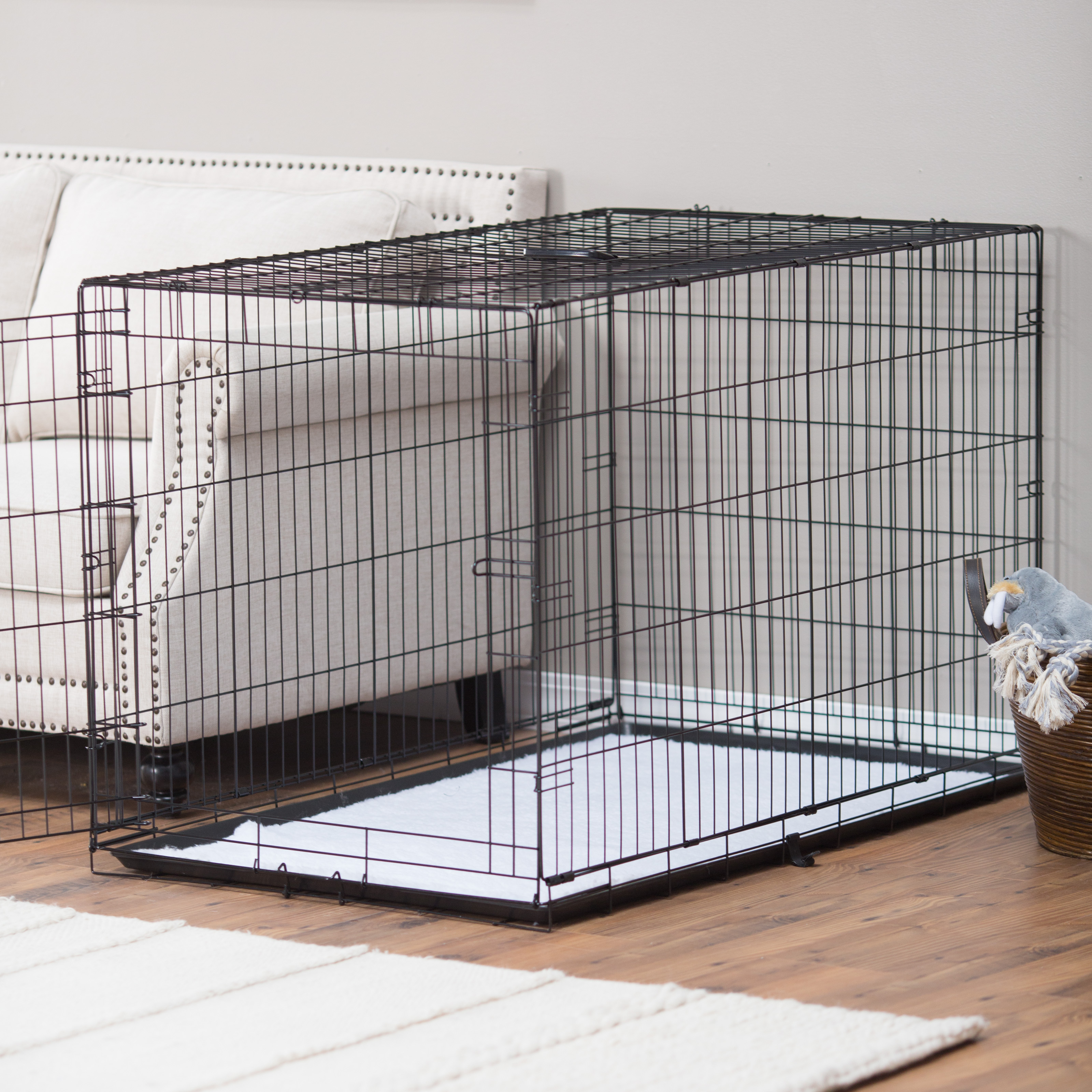 Precision Pet Products ProValu Single Door Dog Crate with Free Fleece Crate Mat & Dog Kennels \u0026 Crates | Hayneedle