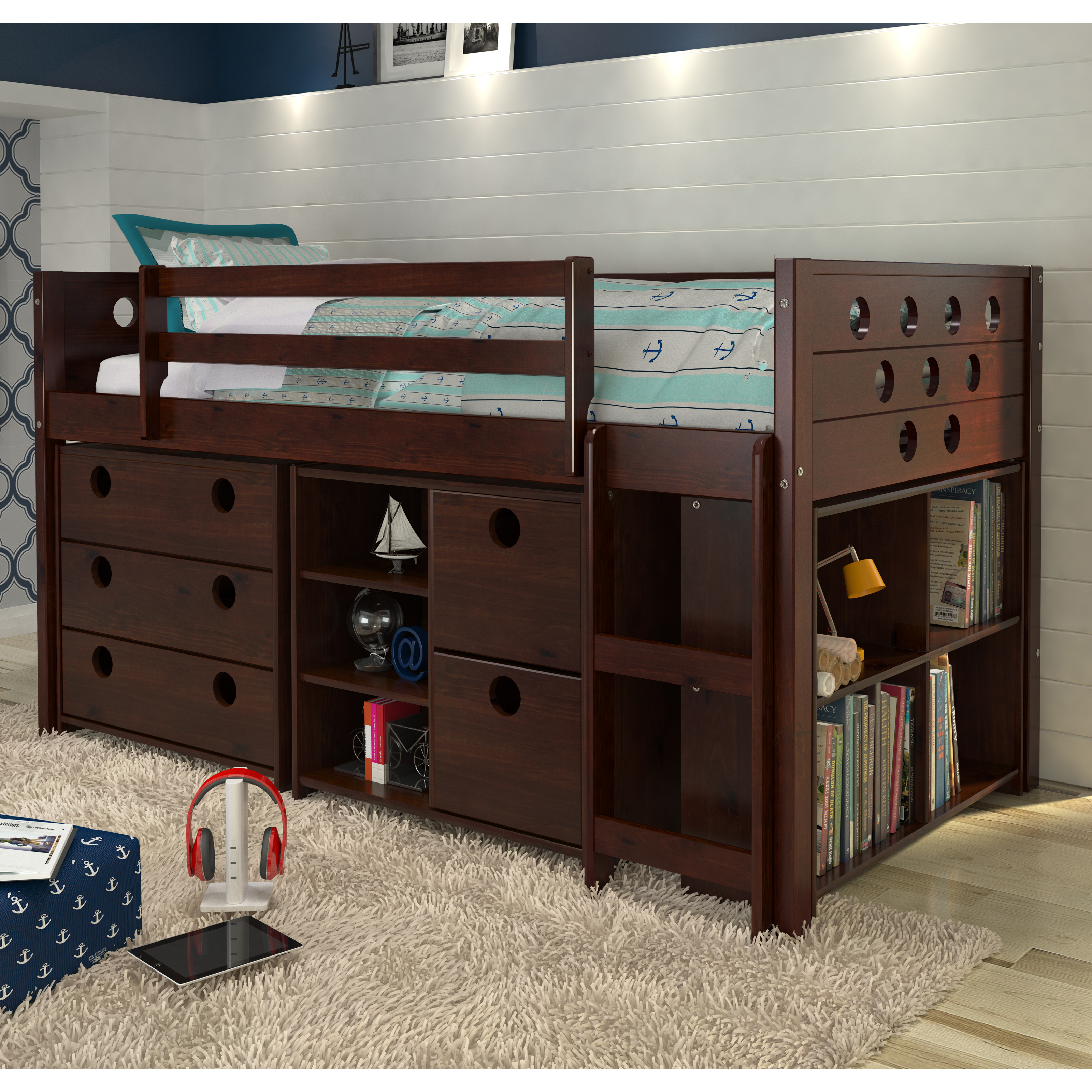 Donco Circles Low Study Loft Bed