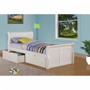 Donco Sleigh Bed - White