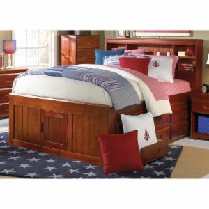 Donco Bookcase Bed - Merlot