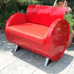Drum Works Furniture Very Red Arm Chair