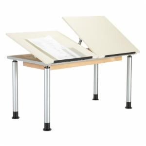 Diversified Woodcrafts Two-Section Adjustable Drafting Table
