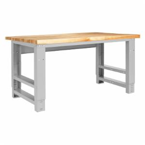Diversified Woodcrafts Adjustable Height Metal Table
