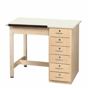 Diversified Woodcrafts Art Drafting Table with Drawers