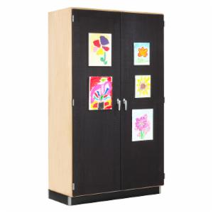 Diversified Woodcrafts Storage Cabinet with Canvas Display Door