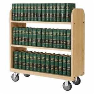 Diversified Woodcrafts Large 3 Flat Shelved Book Truck