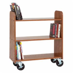 Diversified Woodcrafts 3 Flat Shelved Book Truck