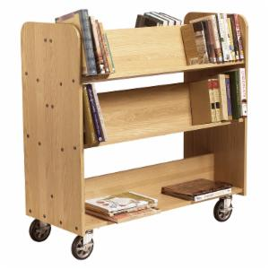 Diversified Woodcrafts 6 Shelf Double Sided Book Truck