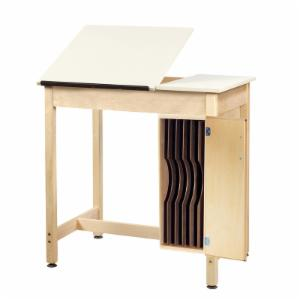 Diversified Woodcrafts Split Top Drafting Table with Board Storage