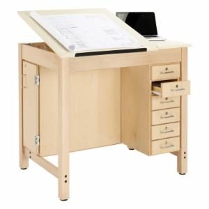 Diversified Woodcrafts 6 Drawer Split Top Drafting Table