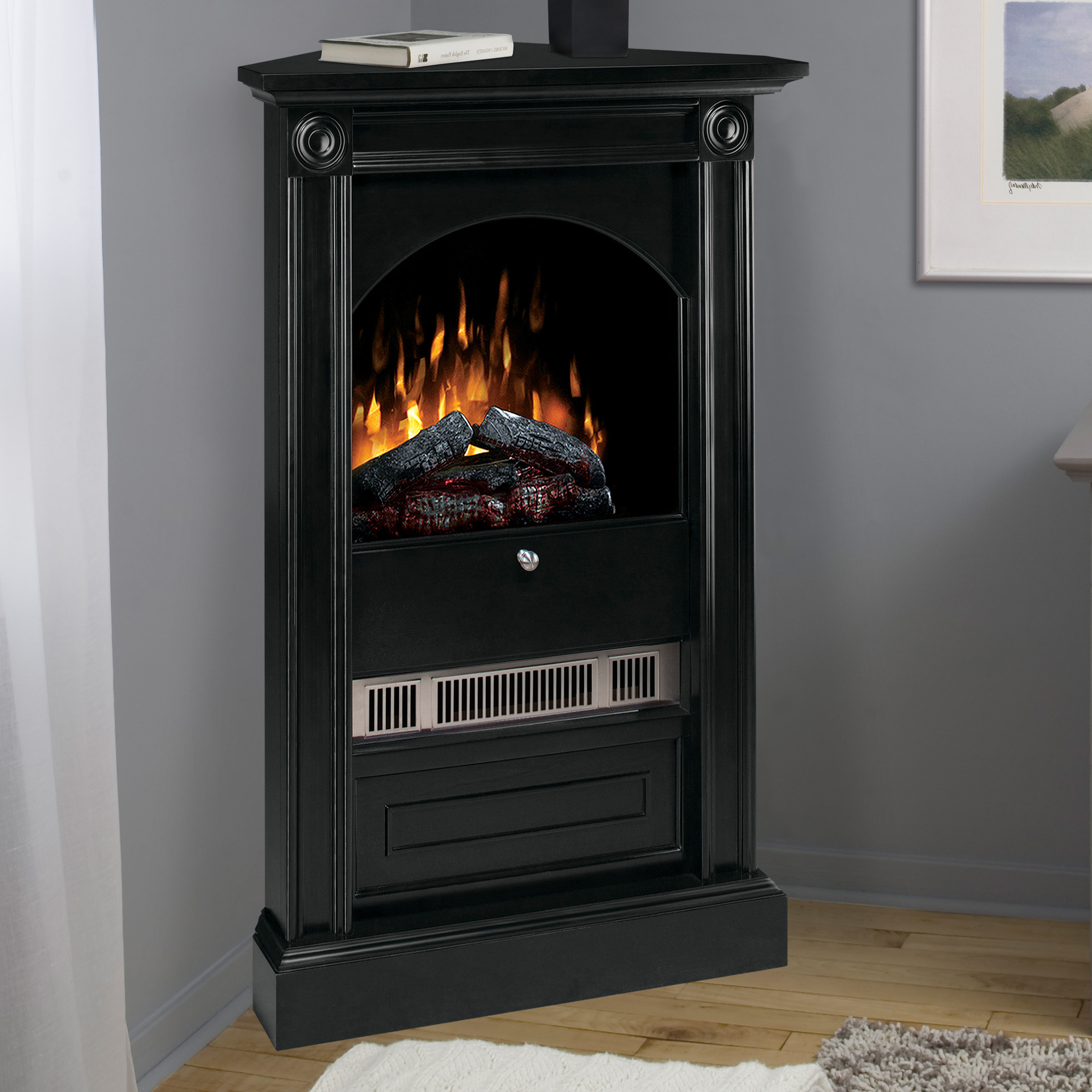 title | Corner Electric Fireplace