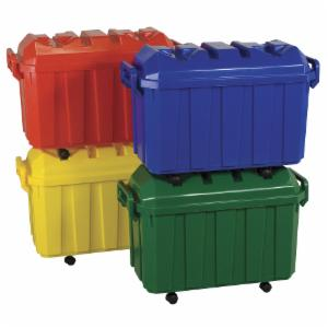 ECR4KIDS Stackable Storage Trunks with Casters-4 Pack