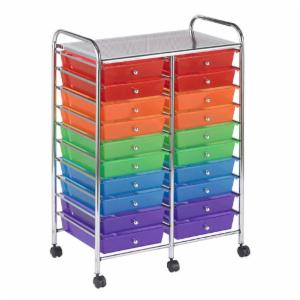 ECR4KIDS 20 Drawer Mobile Organizer - Assorted Colors