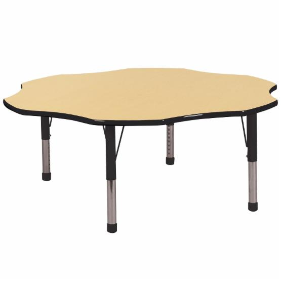 ECR4KIDS 60 in. Flower Adjustable Activity Table - Chunky Legs