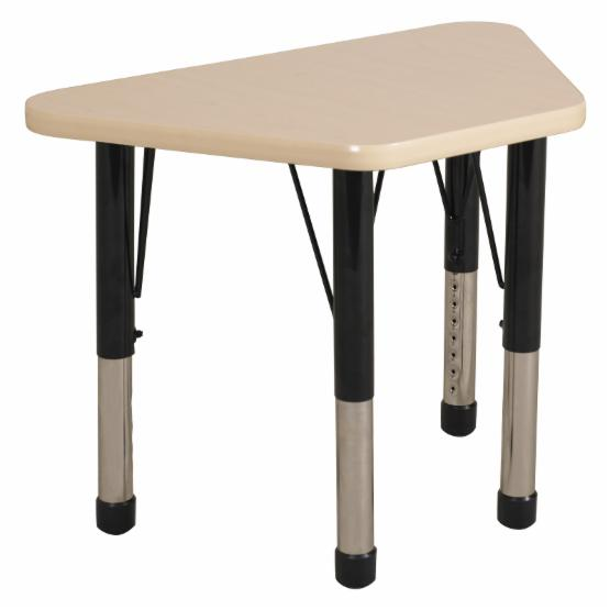 ECR4KIDS 18 x 30 in. Maple Top Learning Adjustable Activity Table - Chunky