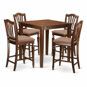 East West Furniture Vernon 5 Piece High Splat Dining Table Set