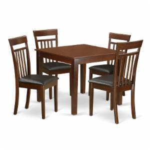 East West Furniture 5 Piece Sheraton Modern Square Dinette Dining Table Set