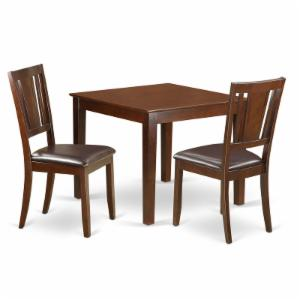 East West Furniture 3 Piece Scotch Art Breakfast Nook Dining Table Set
