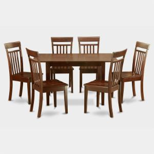 East West Furniture Norfolk 7 Piece Sheraton Dining Table Set
