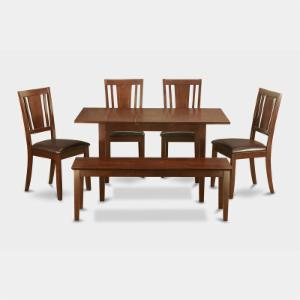 East West Furniture Norfolk 6 Piece Scotch Art Dining Table Set