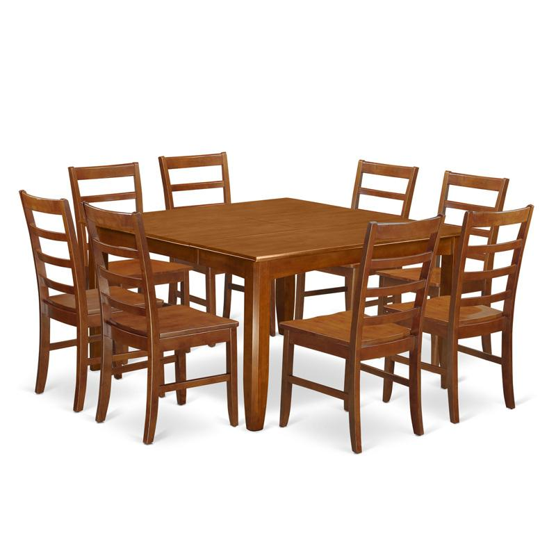 East West Furniture Parfait 9 Piece Shaker Dining Table S...