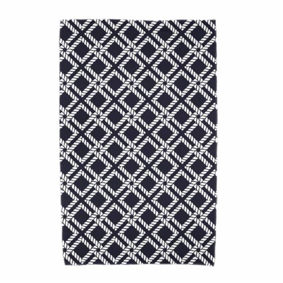 E by Design Nautical Nights Rope Rigging Beach Towel