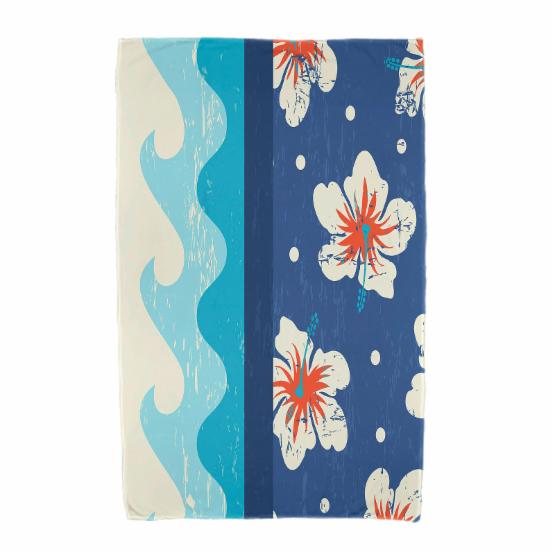 E by Design Surf Sand and Sea Beach Towel
