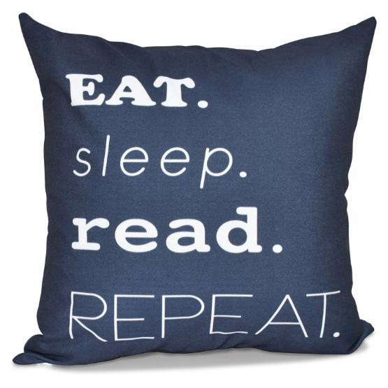 E by Design Beach Vacation My Mantra Decorative Pillow