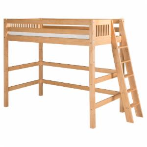 Camaflexi Mission Headboard High Loft Bed with Lateral Ladder