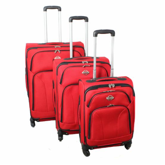 Transworld 3 Piece Expandable 360 Degree Spinner Upright Luggage Set